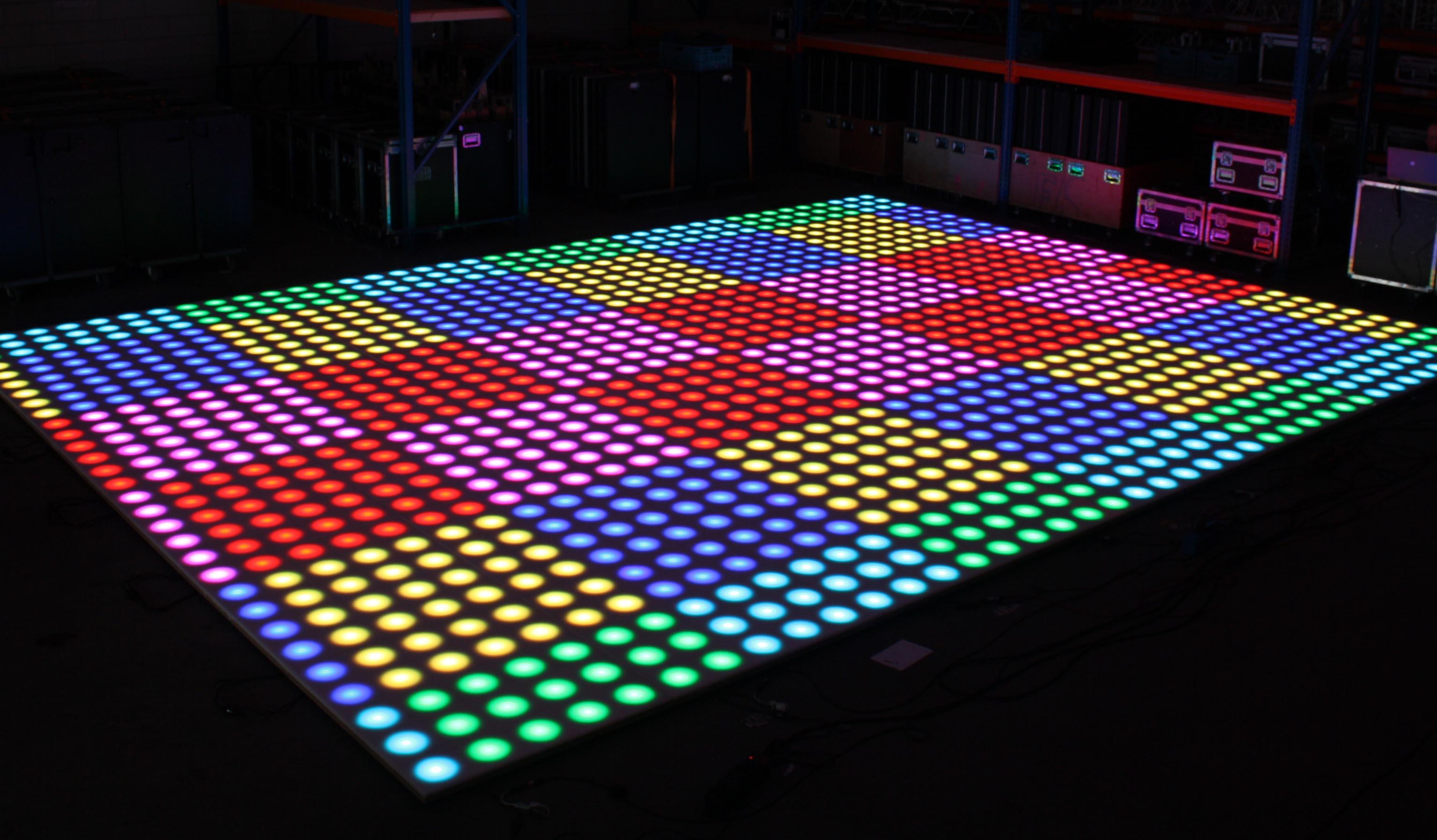 verlichte dansvloeren
