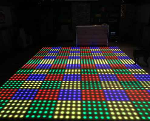 verlichte dansvloer